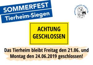 Tierheim geschlossen! @ Tierheim Siegen | Siegen | Nordrhein-Westfalen | Deutschland