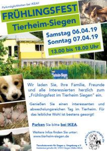 Frühlingsfest 2019 im Tierheim Siegen @ Tierheim Siegen | Siegen | Nordrhein-Westfalen | Deutschland