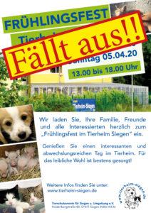 Frühlingsfest 2020 im Tierheim Siegen - FÄLLT AUS!! @ Tierheim Siegen | Siegen | Nordrhein-Westfalen | Deutschland